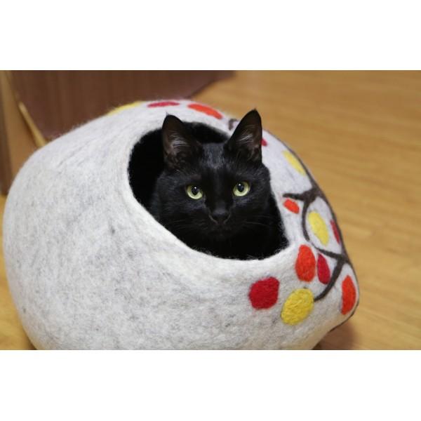 Felt Cat House - Tree Cave - Felt Cat Cave- Cat Bed - CA-004