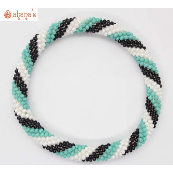 Roll on Glass Beads Bracelets Made in Nepal