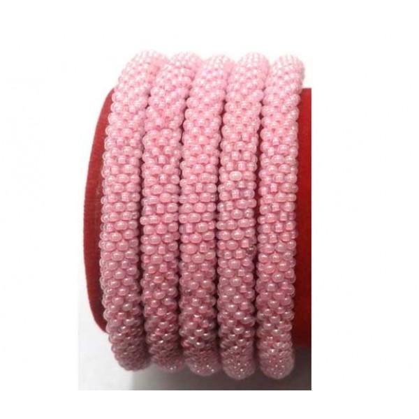 Roll on Glass Beads Bracelets - Crochet Beads Bracelets - Fashion Bracelets - Handmade in Nepal