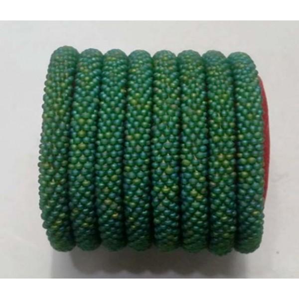Glass Beads Bracelet Handmade in Nepal, Glass Bead Roll On Bracelet, Crochet Bracelet Bangle, Seed Bead Bracelet