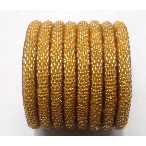 Glass Beads Bracelets - Golden Color Bracelets - Made in Nepal