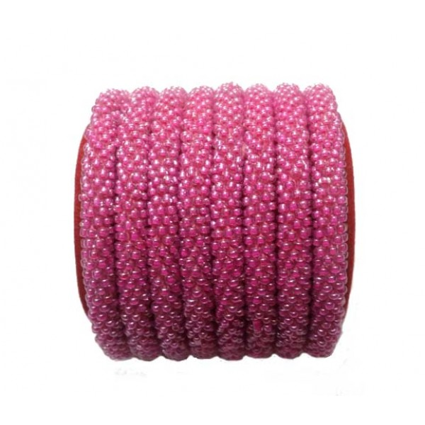 Roll on Glass Beads Bracelets - Wholesale Beads Bracelets - Beaded Bracelets - Crochet Bracelets - N-018