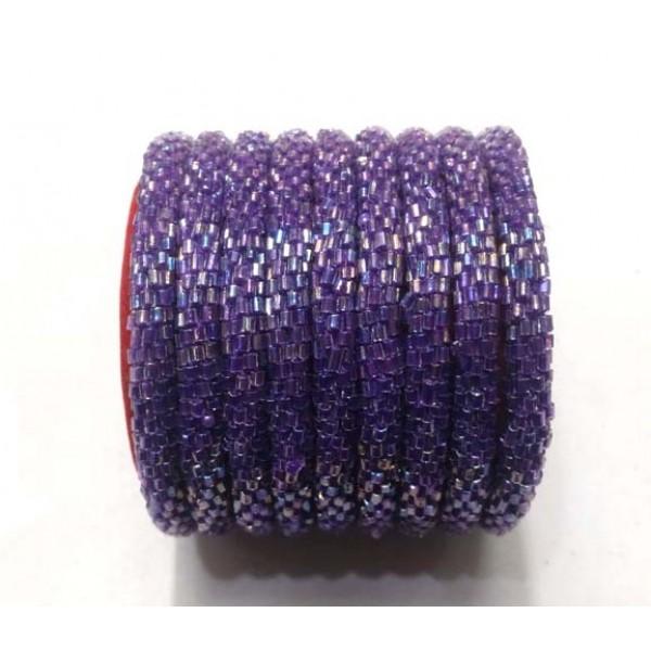 Ahana's Beads Bracelets - Rol on Bracelets - Women Bracelets - Purple Color - N-019