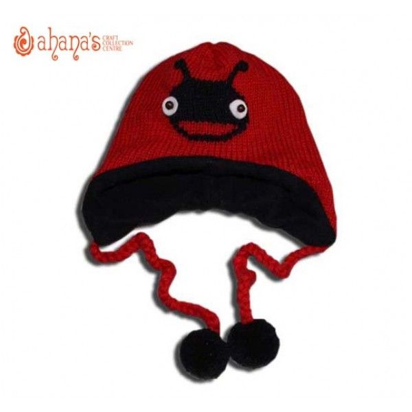 Woolen Animal Hat - Winter Hat - Children Hat - Knitted Hat - Woolen Funny Hat - Hand Knitted in Nepal - AN-001