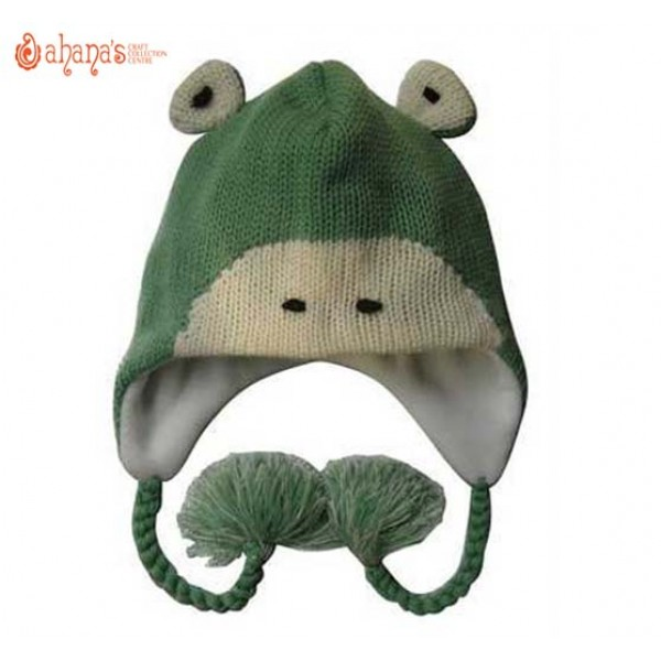 Woolen Animal Hat - Winter Hat - Children Hat - Knitted Hat - Woolen Funny Hat - Hand Knitted in Nepal - AN-002