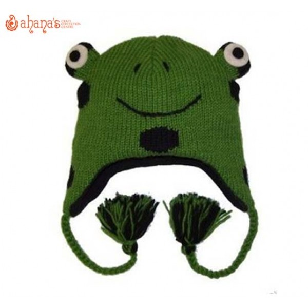 Woolen Animal Hat - Winter Hat - Children Hat - Knitted Hat - Woolen Funny Hat - Hand Knitted in Nepal - AN-003