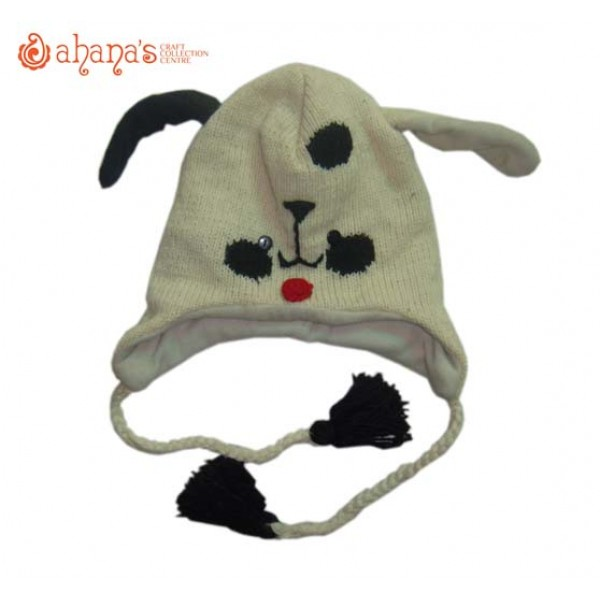 Woolen Animal Hat - Winter Hat - Children Hat - Knitted Hat - Woolen Funny Hat - Hand Knitted in Nepal - AN-004