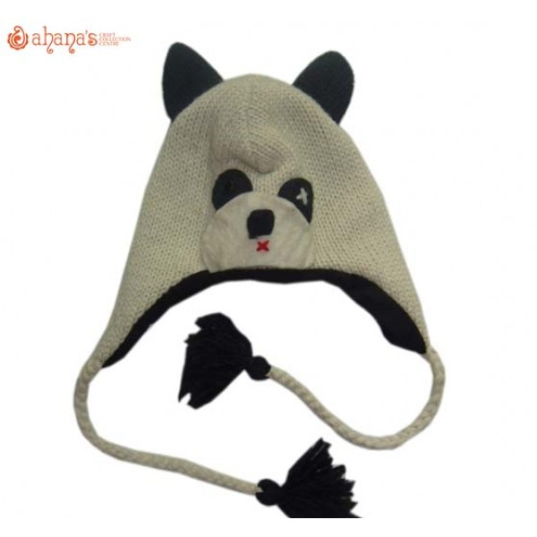 Woolen Animal Hat - Winter Hat - Children Hat - Knitted Hat - Woolen Funny Hat - Hand Knitted in Nepal - AN-014