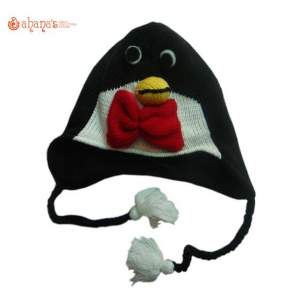 Woolen Animal Hat - Winter Hat - Children Hat - Knitted Hat - Woolen Funny Hat - Hand Knitted in Nepal - AN-018