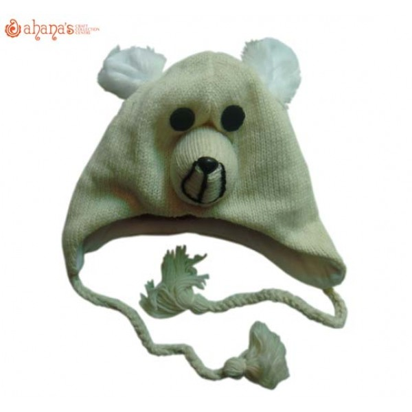 Woolen Animal Hat - Winter Hat - Children Hat - Knitted Hat - Woolen Funny Hat - Hand Knitted in Nepal - AN-019