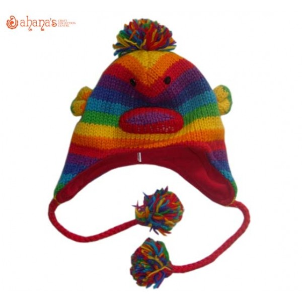 Woolen Animal Hat - Winter Hat - Children Hat - Knitted Hat - Woolen Funny Hat - Hand Knitted in Nepal - AN-032