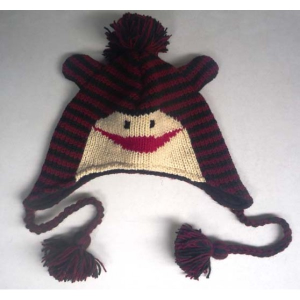 Woolen Animal Hat - Winter Hat - Children Hat - Knitted Hat - Woolen Funny Hat - Hand Knitted in Nepal - AN-033