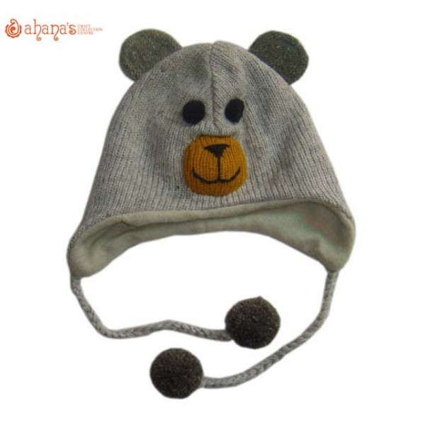 Woolen Animal Hat - Winter Hat - Children Hat - Knitted Hat - Woolen Funny Hat - Hand Knitted in Nepal - AN-036
