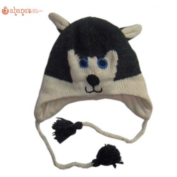 Woolen Animal Hat - Winter Hat - Children Hat - Knitted Hat - Woolen Funny Hat - Hand Knitted in Nepal - AN-037