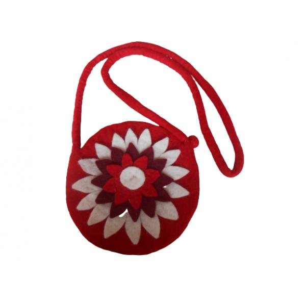 Felt Bag Sun flower fashionable handmade in Nepal