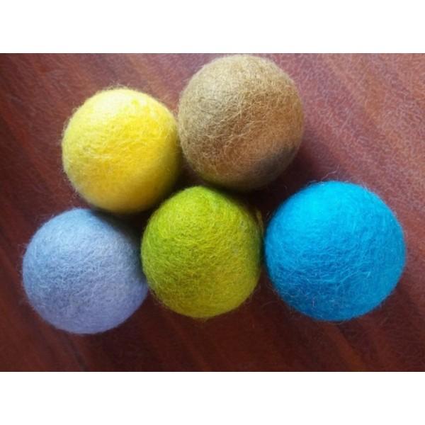 Wool Felt Balls Handmade Wool Balls - Made in Nepal