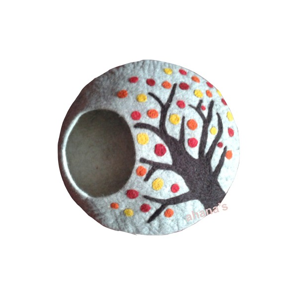 Felt Cat House - Tree Cave - Felt Cat Cave- Cat Bed - CA-004