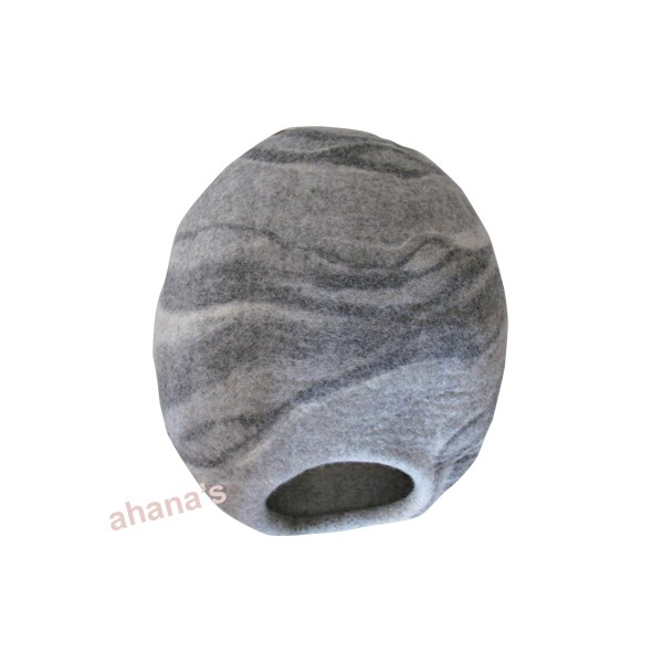 Nepal Felt Cat Cave Handmade in Nepal -  Cat Bed - Pet Bed - Puppy Bed - Cat House - 100% Wool - CA-009