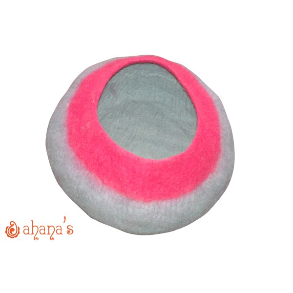Nepal Felt Cat Cave Handmade in Nepal -  Cat Bed - Pet Bed - Puppy Bed - Cat House - 100% Wool - CA-033