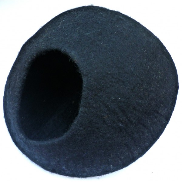 Nepal Felt Cat Cave Handmade in Nepal -  Cat Bed - Pet Bed - Puppy Bed - Cat House - 100% Wool - CA-059