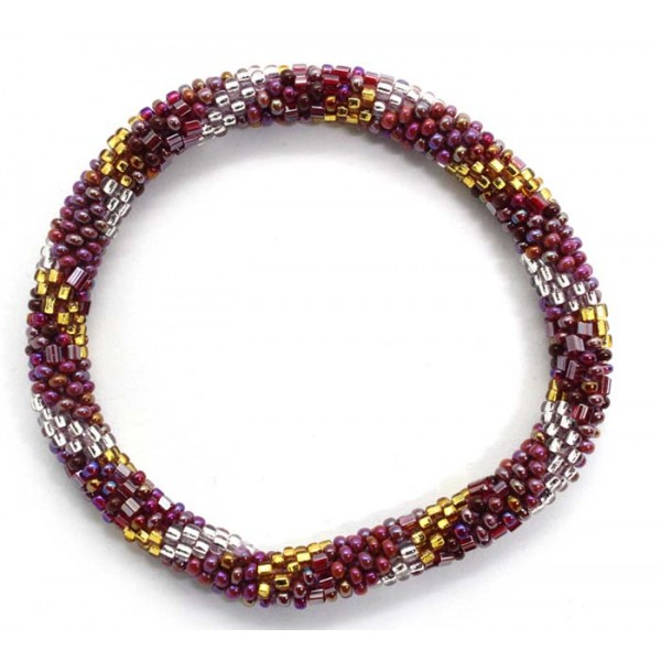 Ahana's Fashion Bracelets - Nepal Roll on Beads Bracelets - Crochet Bracelets-BD-142