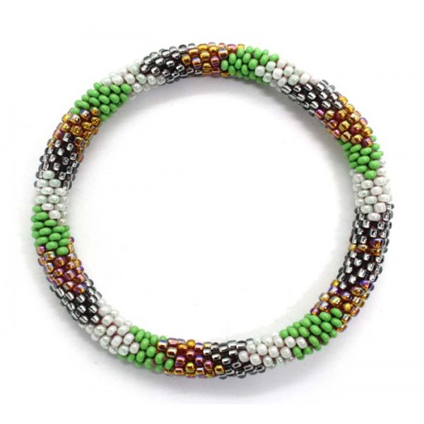 Ahana's Beads Bracelets - Glass Beaded Nepal Bracelets - Roll on Bracelets - Fashion Bracelets - Jewelry - BD-158
