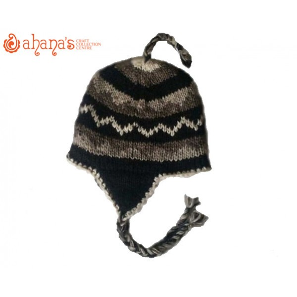 Woolen Knitted Hats - Winter Hat - Fashion Hat - Ear flip hat - Adult Hats - Kids Hat - Children Hat - WH-001