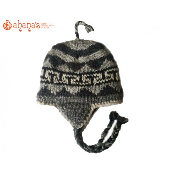 Woolen Knitted Hats - Winter Hat - Fashion Hat - Ear flip hat - Adult Hats - Kids Hat - Children Hat - WH-002