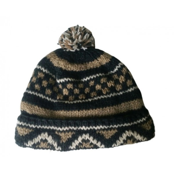 Woolen Hat Hand Knitted Winter Hat - Made in Nepal