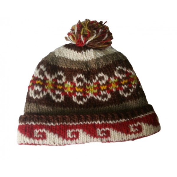 Woolen Hat Hand Knitted Winter Hat - Made in Nepal for Men - Children