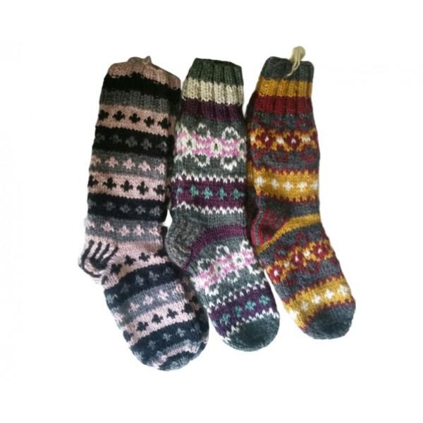 Woolen Knitted Socks - Winter Socks - Made in Nepal