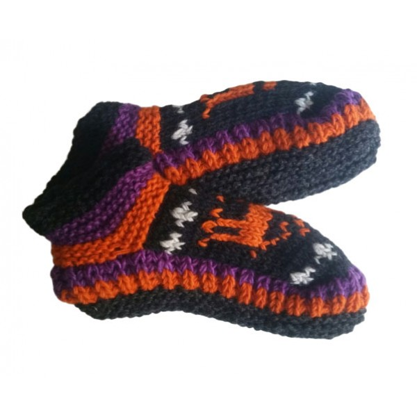 Woolen Knitted Shoes - Indoor Shoes for Winte - Made in Nepal