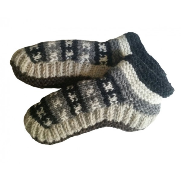 Woolen Knitted Shoes - Indoor Shoes for Winter - Made in Nepal